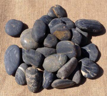 Black Polished Pebbles (2)