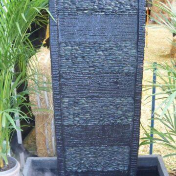 Curved Black Pebble Panel FIA043