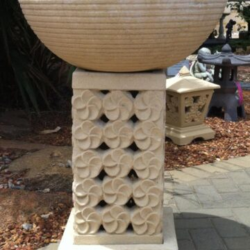 Frangipani Design Stand with Bowl FJR026
