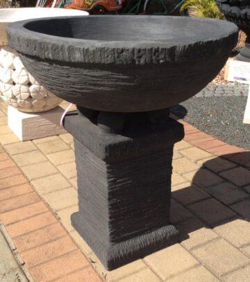 Large Chalice Bowl Black FJR046
