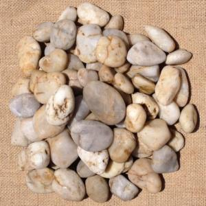 Off White Polished Pebbles 20mm - 40mm