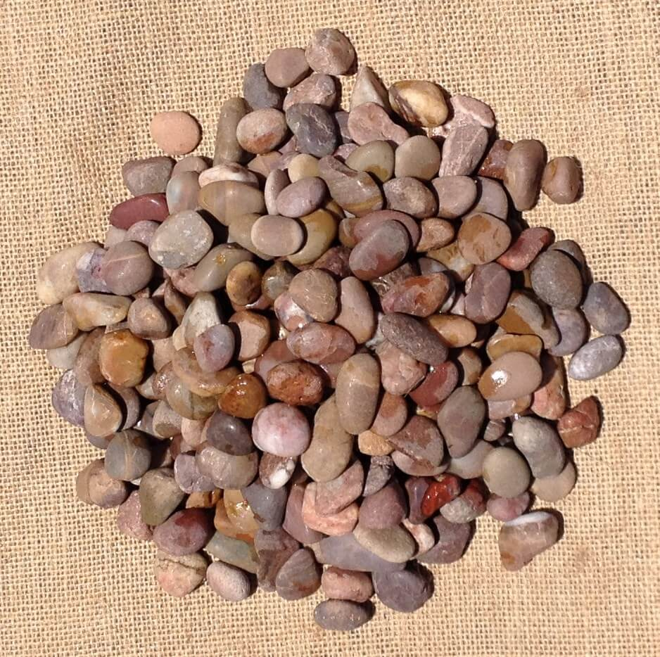 Red Polished Pebbles 8mm - 12mm