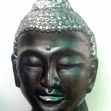 ST007IH Mask of Budha BlackSilver