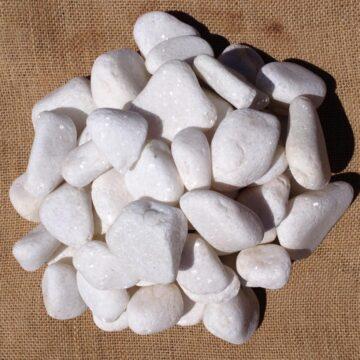 Snow White Pebbles 30 - 50mm