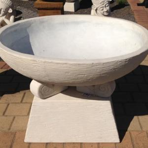 Large Bowl on Tapered Creme FIA117