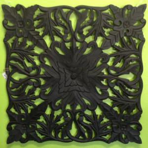 Carved Wood Wall Art Black 96017WAL