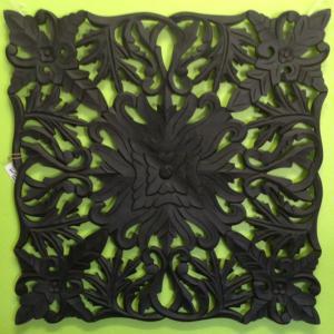 Carved Wood Wall Art Black 96017WAL