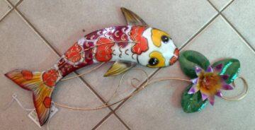 IR643 Koi fish with lilly