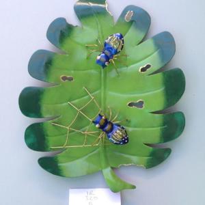 Blue Bugs on leaf IR320B