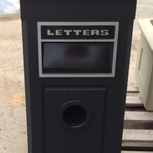 Charcoal Letterbox with Paper Hole