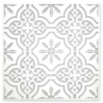 HD165497 Carved Wooden Mandala White