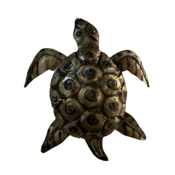A metal turtle perfect for decoration in your garden